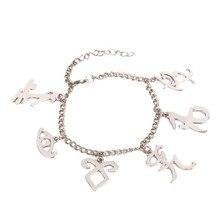 The Mortal Instruments City Of Bones Inspired Angelic Power Rune Symbols Bracelet Shadow Hunter Charms Bangle Bracelet For Women
