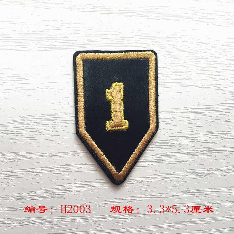 소년 남자 의류 청바지 자 켓 아이언에 대 한 높은 품질 10 pcs 군사 자 수 패치 육군 appliques 배지 패브릭 diy