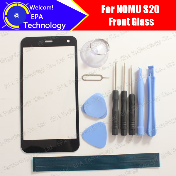 Nomu S20 Front Glass Screen Lens 100% Original Front Touch Screen Glass Outer Lens for S20 Smart Phone + Tools + Adhesive