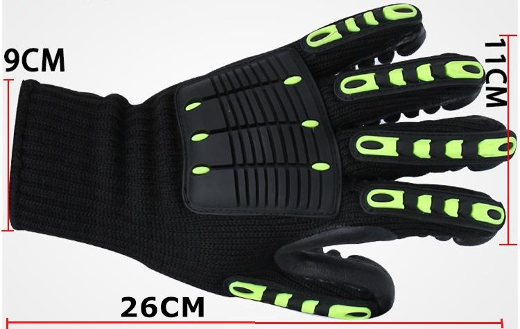 Купить с кэшбэком Free shipping hot selling anti-shocked /anti-quated saftety protecting gloves for heavy duty work petroleum exploration assemble