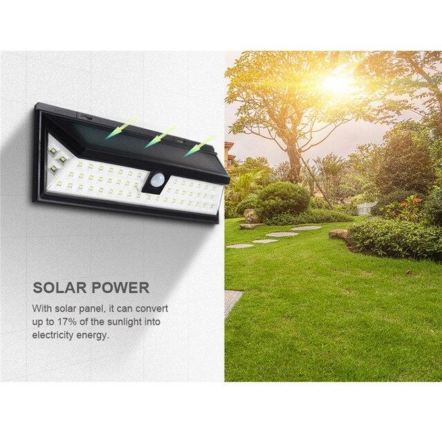 CHENGYILT 54 LED Solar Outdoor Light 6V IP65 Protection Level ...