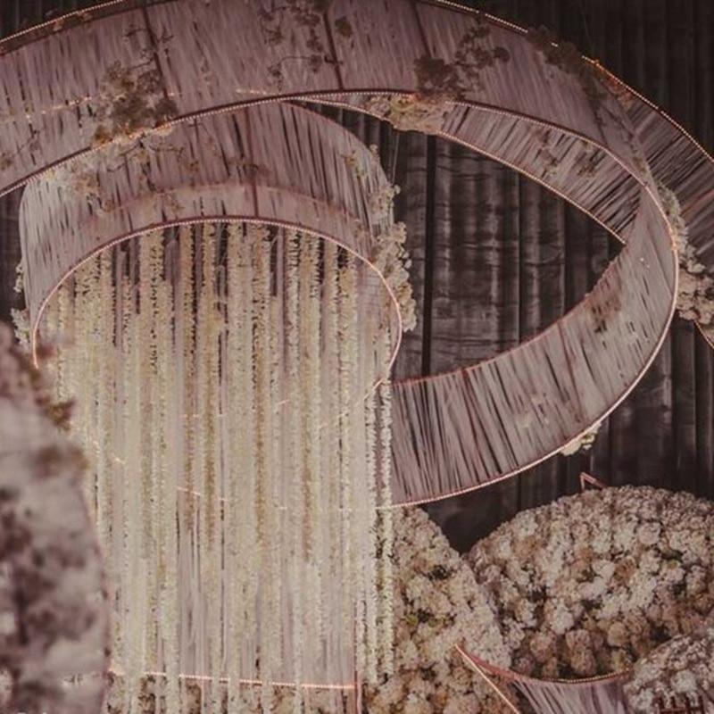 fashion artificial hydrangea vine party romantic wedding party decorative silk garlands of artificial flowers vine 1pcs 90 200cm in Artificial Dried Flowers from Home Garden