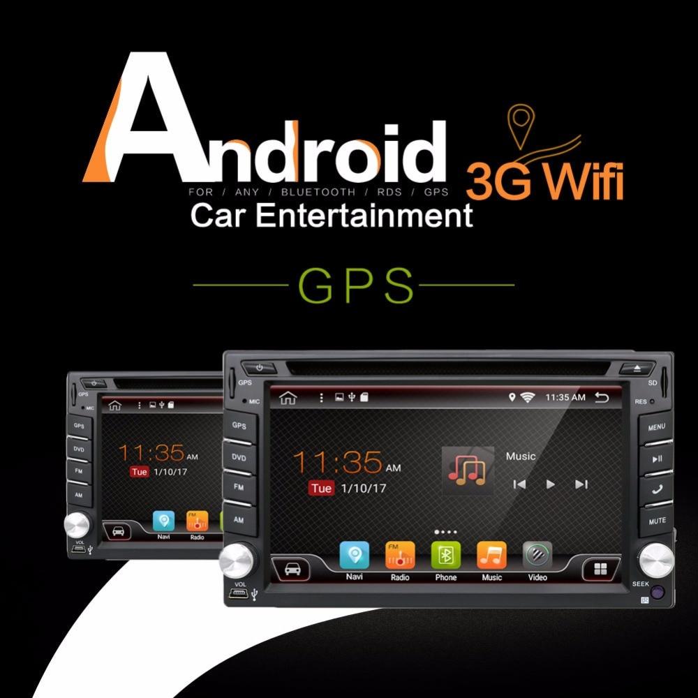 2 Din Android 6 0 Quad core Universal Car Radio DVD GPS Bluetooth 3G OBD