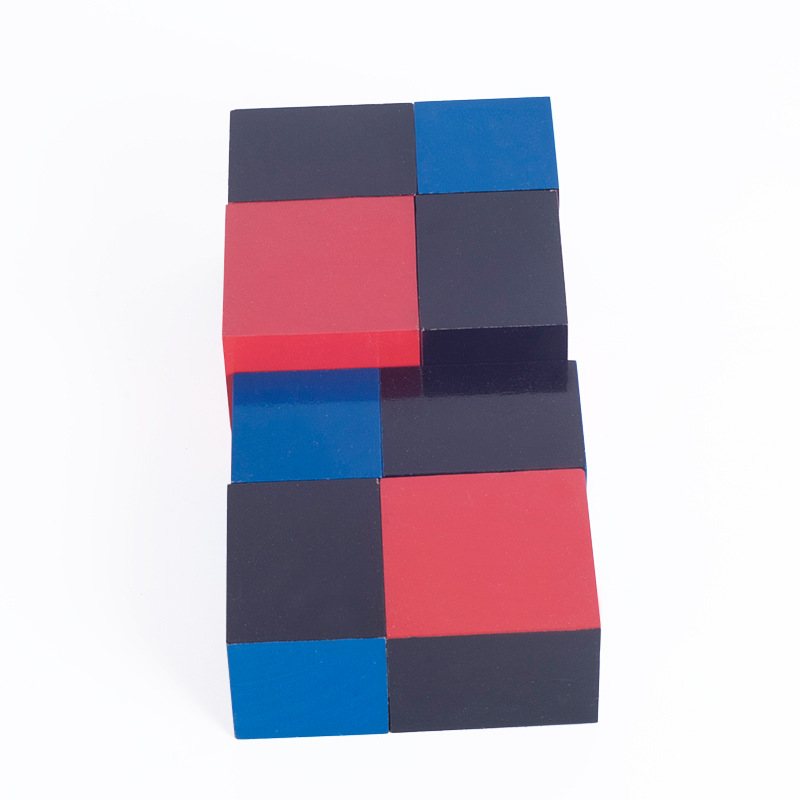 Купить с кэшбэком New wooden toy Montessori Algebraic Binomial Cube Early Childhood Education Preschool Training Math Kids Toys
