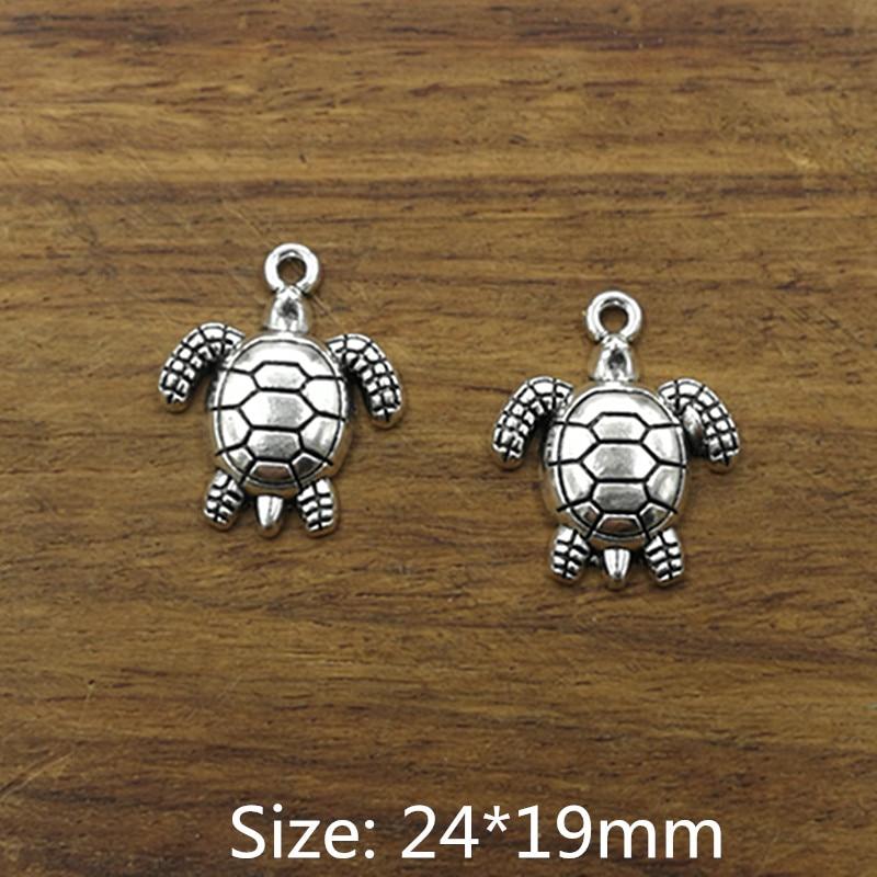 10pcs Tibetan Silver Lizard Charm Pendant Fit DIY Bracelet Necklace Making