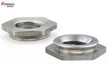 купить 200pcs F-0420-3/F-0420-4/F-0420-5 Self-clinching Flush Fasteners Stainless Steel Flush Nuts PEM Standard Factory Wholesales по цене 4019.25 рублей
