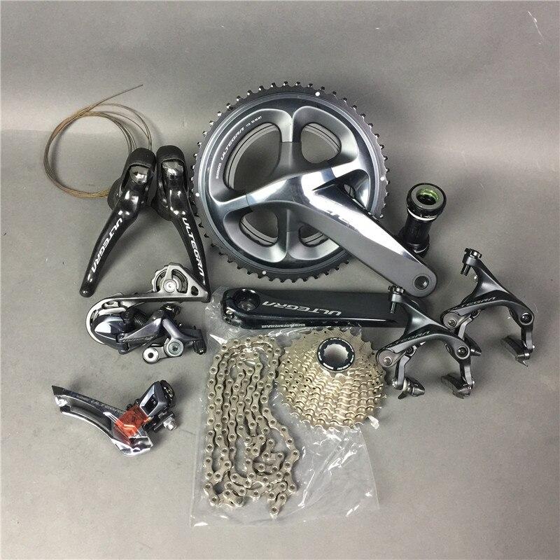 Shimano R8000 gruppi a in magazzino! Ultegra Road Bike Groupset 165/170/172.5/175mm 50-34 52-36 53-39 Gruppo Set 2*11 velocità Della Bicicletta