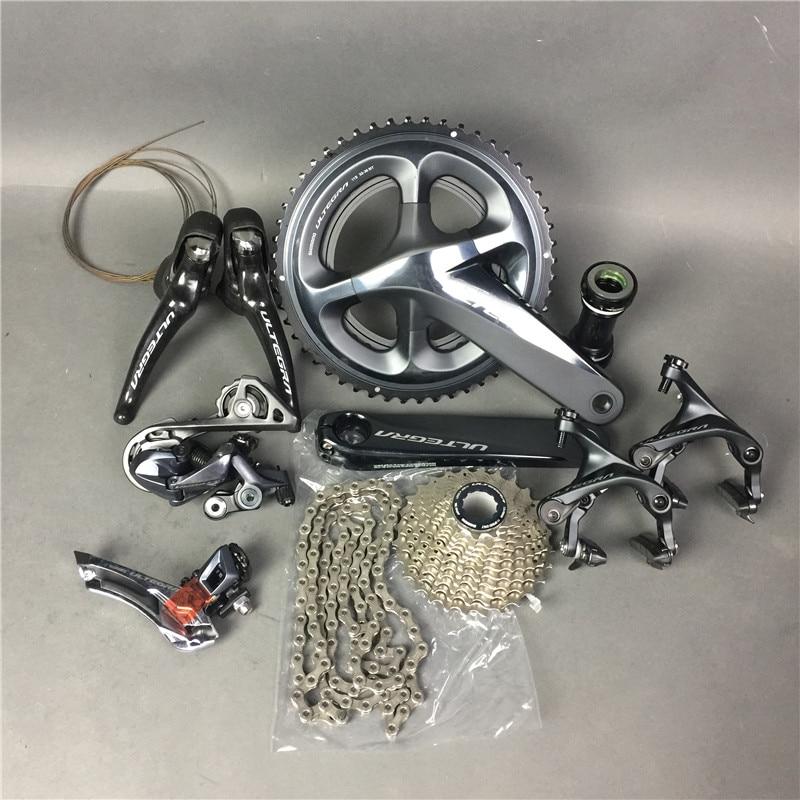 Shimano r8000 groupsets в наличии! ultegra дорожный мотоцикл список групп 165/170/172.5/175 мм 50-34 52-36 53- 39 Велосипедный Спорт Group Set 2*11 скорость