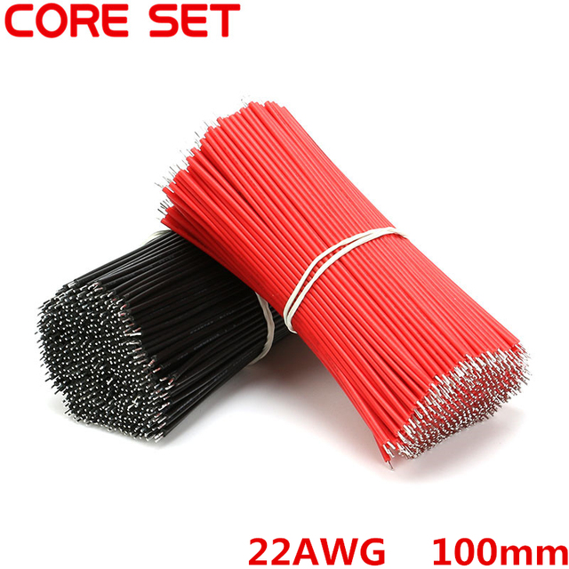 200pcs/set Tin Plated Breadboard Jumper Cable Wire 100mm 22AWG For ...