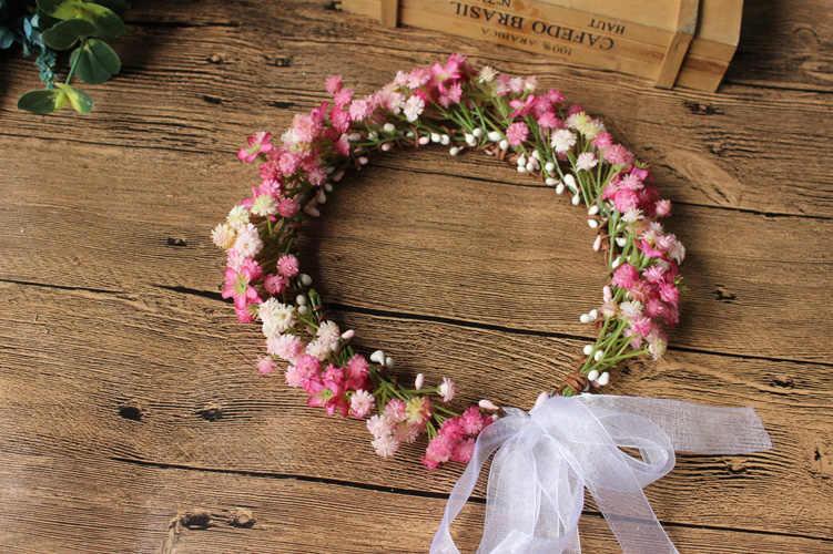 Princessally Elegante Da Sposa Fatto A Mano Fiore Copricapi Gypsophila Boho Testa-band Aldult Crown Damigella D'onore Spose Fiori Della Fascia Nuovo