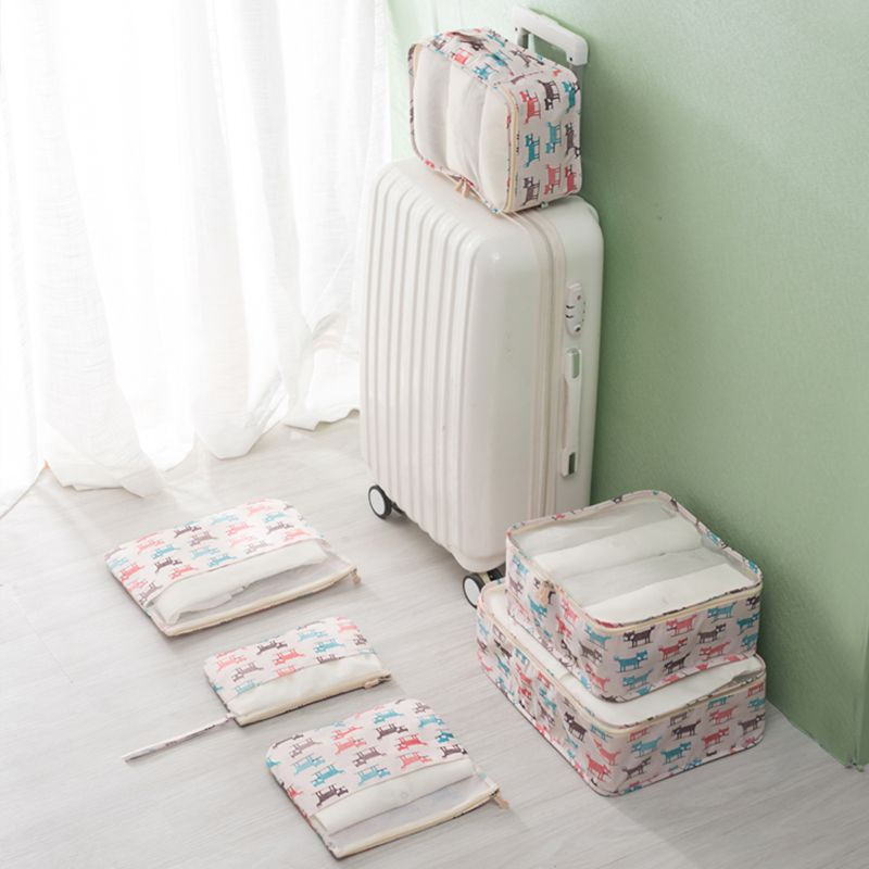 4f5400ad59bc US $16.99 20% OFF|6pcs/set Animal Pattern Travel Suitcase Organizer Travel  Storage Bag Set Luggage Divider Container Clothes Pouch Storage Case-in ...