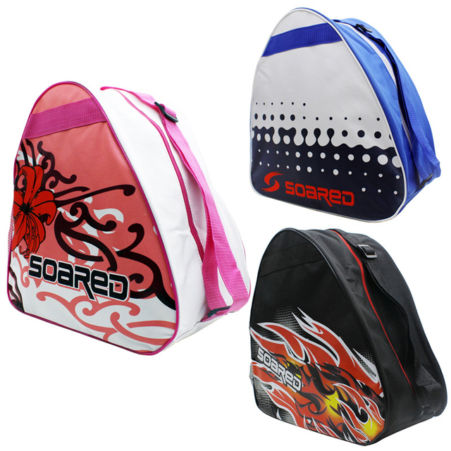 NEW Kids Professional Graffiti Ice Ski Snow Boots  Ice Skate Shoes Helmet Portable Carry Shoulder Bag For Snowboard Accessories