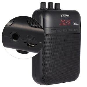 Image 5 - Ammoon AMP 01 5 W Gitar Amp Kaydedici hoparlör tf kartı Yuvası Kompakt Taşınabilir Çok Fonksiyonlu