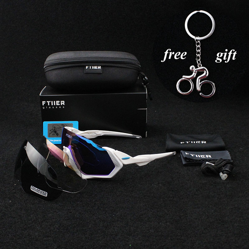2018 brand Multi lens Cycling Glasses Polarized Riding Bicycle Sunglasses Goggles Driving Eyewear Outdoor Sports Sunglasses JAW