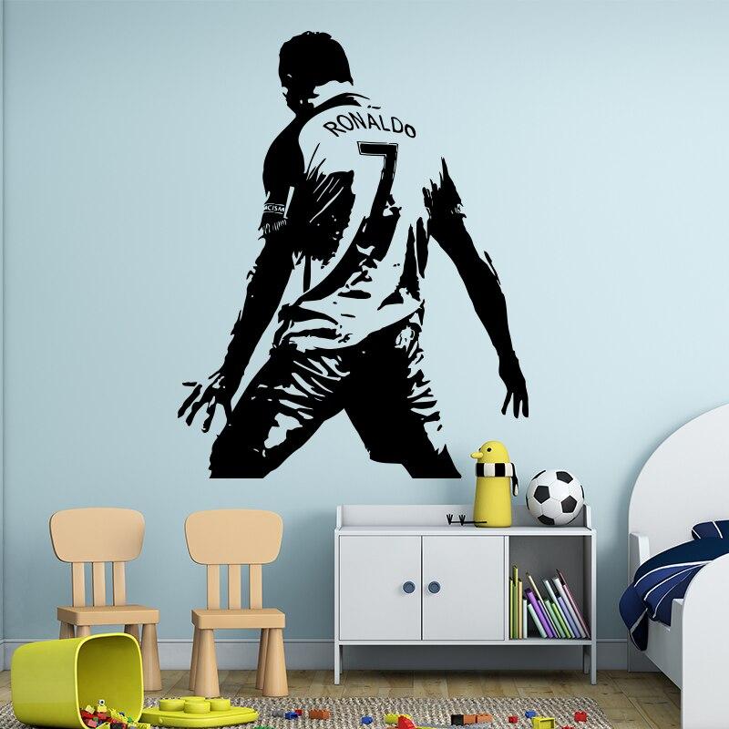 cristiano ronaldo figure wall sticker vinyl diy home decor football