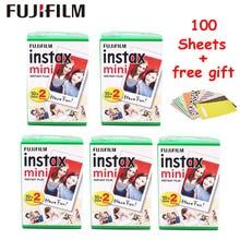 100 Vellen Fujifilm Instax Mini 9 8 Film Witte Rand Foto Papers Voor Fuji Mini 8 7 s 70 90 25 55 delen SP 1 SP 2 Instant Camera