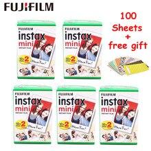 100 arkuszy Fujifilm Instax Mini 9 8 filmu biały krawędzi zdjęcie papiery do Fuji Mini 8 7 s 70 90 25 55 udział SP 1 SP 2 aparatu fotograficznego