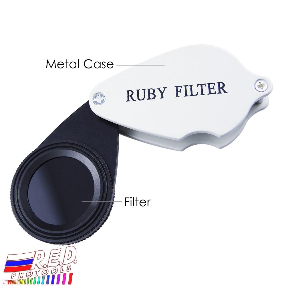 Handheld Foldable Ruby Filter Gem Emerald Identification Gemstone Tester Red & Pink GEM Identifier