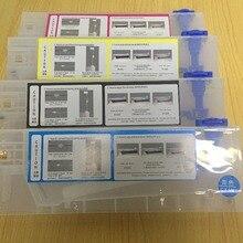 4 шт./лот 220 мл пустой Заправляемый чернильный картридж для Roland/Mimaki/Mutoh и других принтеров