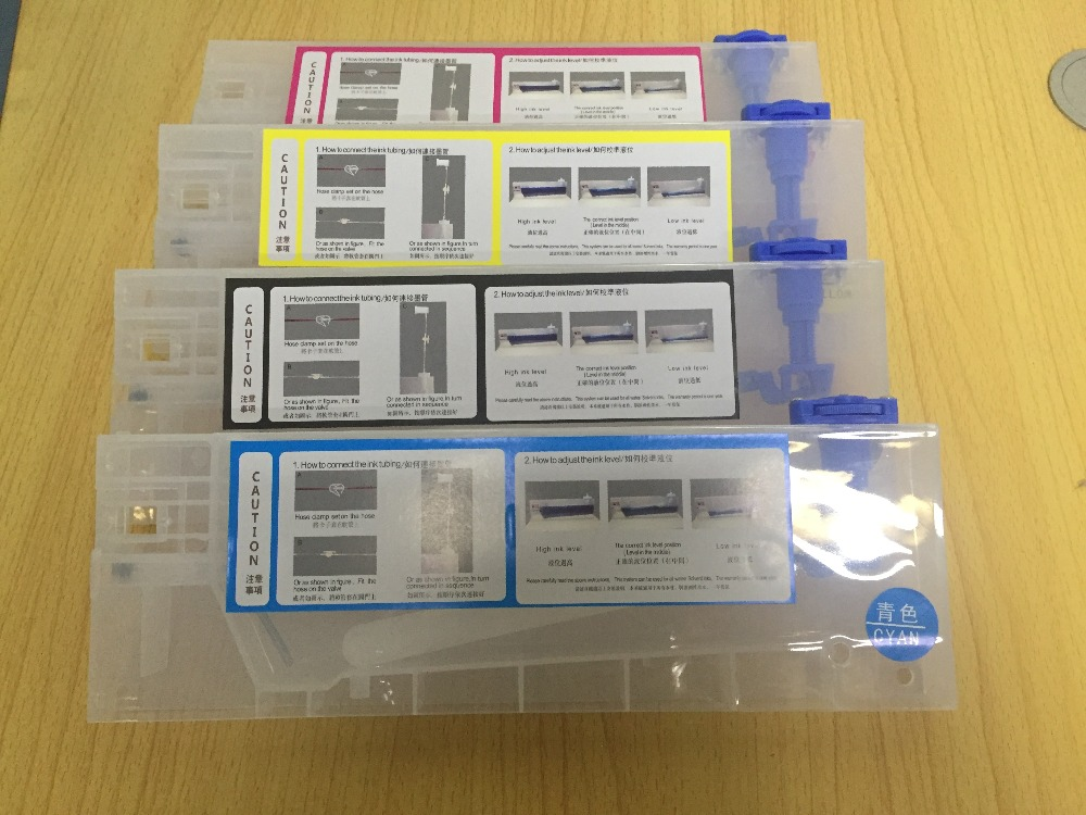 4pcs/lot 220ml empty refill ink cartridge for Roland/Mimaki/Mutoh and other printer bulk ink system