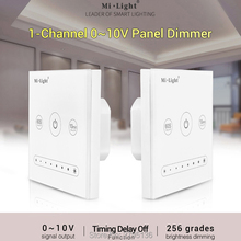 цены Milight L1 Wall-mounted led Touch Panel Dimmer 1-Channel 0~10V AC100~240V Max 20mA/Channel Output  for single color led light