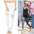 Malla sexy yoga pantalones de chándal de las mujeres medias deportivas de secado rápido pantalones deportivos corriendo pantalones de entrenamiento de fitness femenino