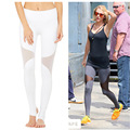 Sexy Mesh Yoga Pants quick dry Women's Tracksuit Sports Tights Athletic Trousers Female Running Fitness Workout Pants