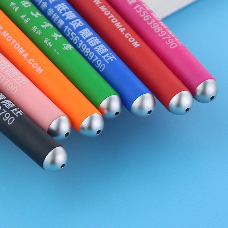 500pcs set Rainbow Color Advertising Pen Can Be Customized LOGO Pen Promotional Custom Logo Pen Business Promotional Gift Pen in Banner Pens from Office School Supplies