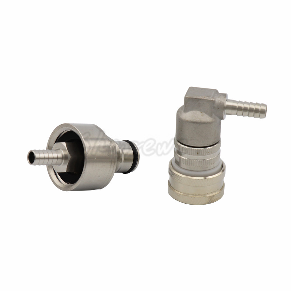 Stainless Steel Carbonation Cap Carbonator with Stainless Steel Liquid or Gas Ball Lock Disconnect Home brewing  (1)