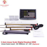 3 Axis 50 1000mm 2~40 Linear Scale Linear Encoder Digital Readout DRO for Drill/EDM/Milling/Grinding/Lathe Machine