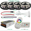 20 m 4 in1 RGBW LLEVÓ la Tira 5050 SMD LED Flexible DC12V la luz 60 led/m + 2.4G RF Remote Controller + Kit adaptador de Corriente
