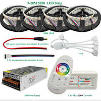20m 4 in1 RGBW LED Strip 5050 SMD DC12V Flexible LED Light 60leds/m + 2.4G RF Remote Controller + Power adapter Kit