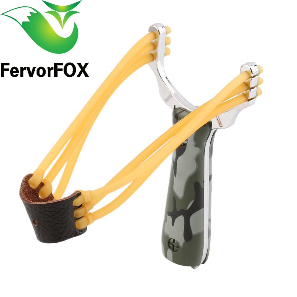 Powerful Aluminium Alloy Slingshot Crossbow Hunting Sling Shot Catapult Camouflage Bow Catapult Outdoor Camping Travel Kits