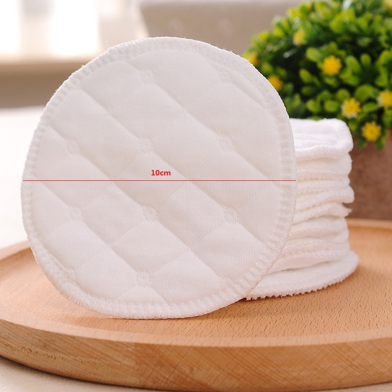 Reliable 12pcs 6 Pairs 3 Layers Cotton Reusable Breast Pads Nursing Waterproof Organic Plain Washable Pad Baby Breastfeeding Accessory Low Price
