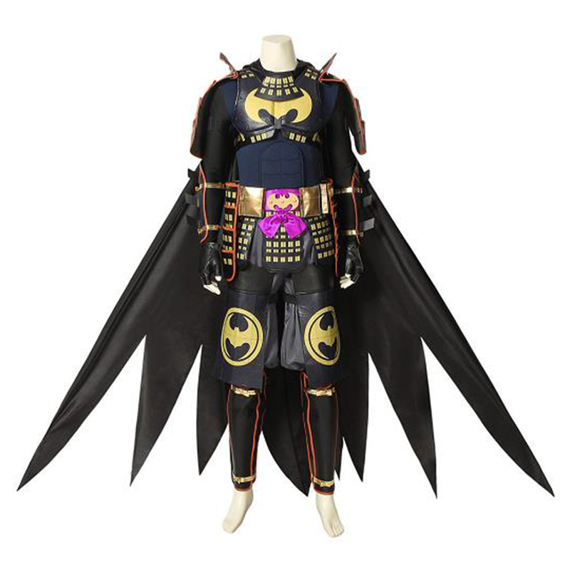 2018 Movie Batman Ninja Cosplay Batman Bruce Wayne Costume with Cape Superhero Adult Men Hallowen Carnival Outfit Custom Made