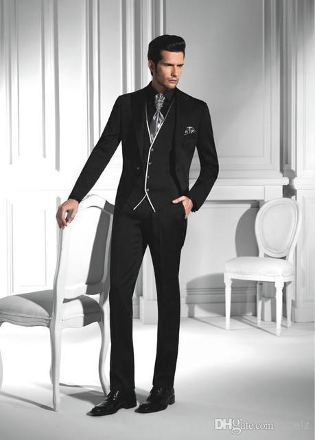 Aliexpress.com : Buy New custom suit 2 button black mens suits ...