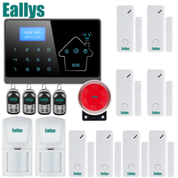 IOS Android APP Touch Screen Panel+LCD Display Wireless GSM PSTN Home Security Burglar Smart Magnetic Android APP Alarm System