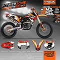 Customized Repsol Team Graphics  Backgrounds Decals 3M Stickers For KTM SX F E XC F W SXF125  530  2007 2008 2009 2010 2011-17