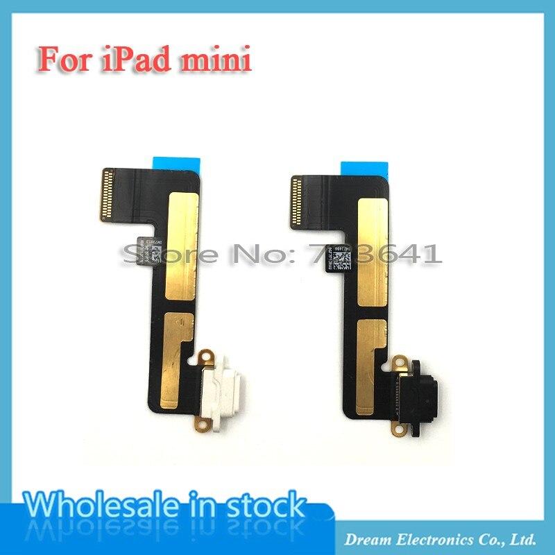 imágenes para MXHOBIC 10 unids/lote Blanco y Negro Cargador USB Charging Dock Conector del Puerto Flex Cable Cinta Para iPad Mini Envío gratuito