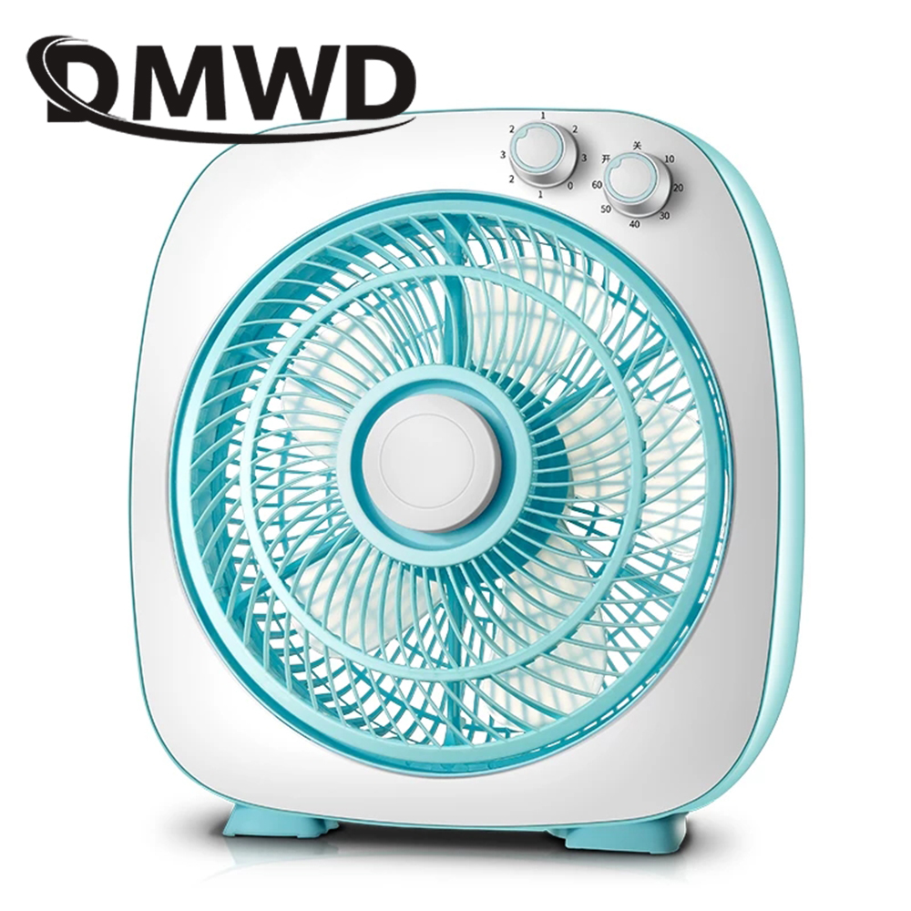 DMWD Portable Electric Desktop Fan Ventilator Air Cooling Conditioner Cooler Laptop Conditioning Fans Timer Wind Blower EU US dmwd portable strong wind air conditioning cooler electric conditioner fan mini air cooling fans humidifier water cooled chiller