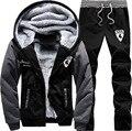 DIMUSI Sportswear Men Winter Thick Inner Wool Hoodie Men Hat Casual Suit Men Zipper Active Suits For Men Outwear 4XL 5XL,YA431