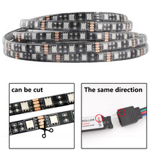 12V LED Light Strip RGB 5050 Black PCB 1M 2M 60led/m PC TV Waterproof Flexible 12 V Room Light Strip Ribbon Tape Decoration Lamp