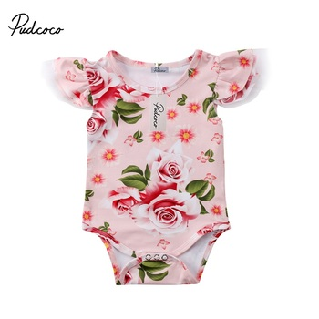 2018 Fashion Baby Girl Romper Newborn Baby Girl Clothes Summer Jumpsuit Romper Playsuit Outfits 0-18M