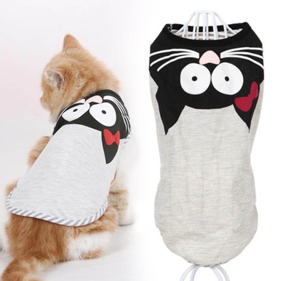 Kitty Suit Vest Cat Clothes Summer Shirt Pet Breathable Jacket Lindo Abrigo Gato Wear Cats Clothing Roupa Pet Supplies 90L0083