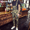 Denyblood Jeans Mens Slim Overalls Print Camouflage Chinos Slim Bib Pants Jumpsuit For Man Male Casual