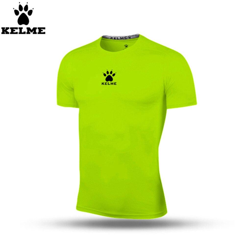 Kelme K15Z731 hombres verde fluorescente pro manga corta delgada camisa de  fuerza en Camisetas de fútbol de Deportes y ocio en AliExpress.com  a4c02c20d6b84