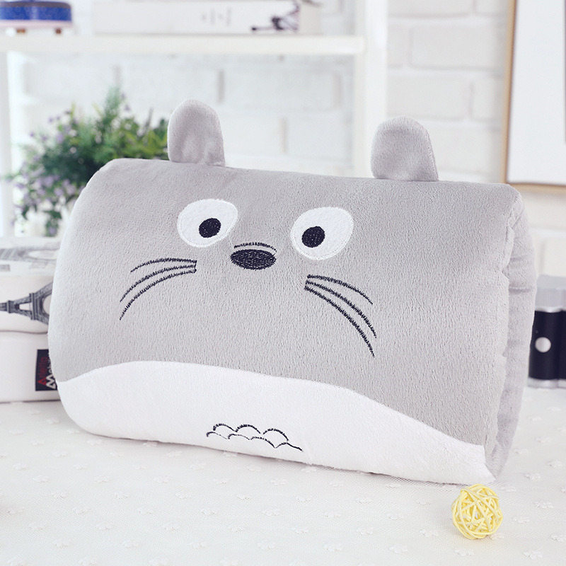 Creative Cartoon Doraemon Rilakkuma Totoro Plush Toys Warm Hands Head Pillow Christmas Gift 9 Kinds Doll