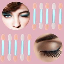 QIAOYAN 10Pcs Schwamm Nagel Pulver Puff Pinsel Doppel-ended Lidschatten Stick Make-Up Maniküre(China)