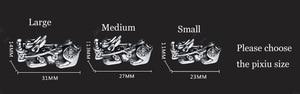 Image 3 - 3D 999 เงิน Pixiu สร้อยข้อมือลูกปัด Obsidian Tiger Eye Beaded ความมั่งคั่ง Pixiu สร้อยข้อมือ Fengshui โชคดีสร้อยข้อมือ