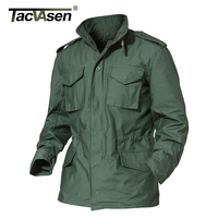 TACVASEN M65 Army Camouflage Clothes Casual Military Tactical Jacket Men Winter Windbreaker Thermal Waterproof Jacket Raincoat